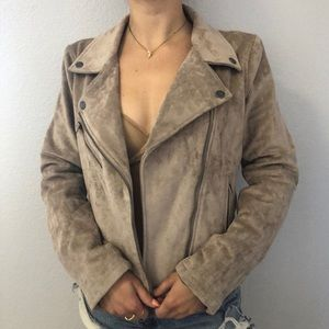 Size Small BLANK NYC Suede Moto Jacket Women's